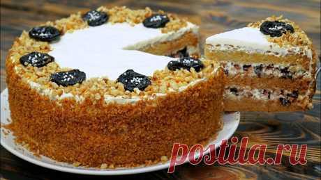 Бархатный Медовый торт — Мягкий и нежный