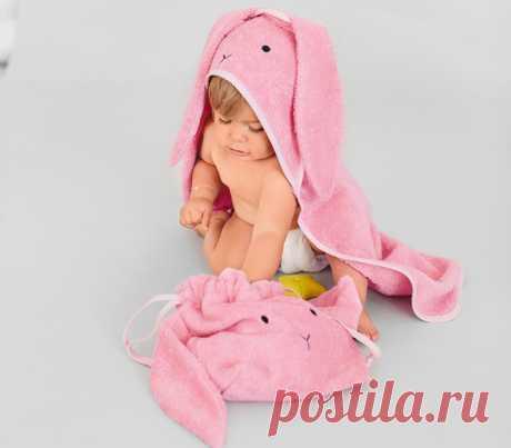 Как сшить махровое полотенце и сумку-мешок для игрушек — Мастер-классы на BurdaStyle.ru