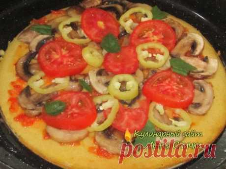 Pizza without yeast | Fast pizza dough