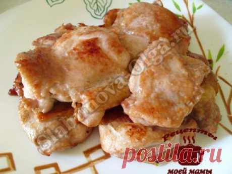 Жареное куриное филе. Рецепт. Фото