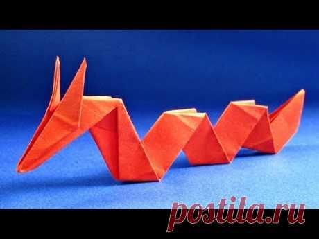 Оригами змея. Как сделать дракона из бумаги - ЗМЕЙ ДРАКОН