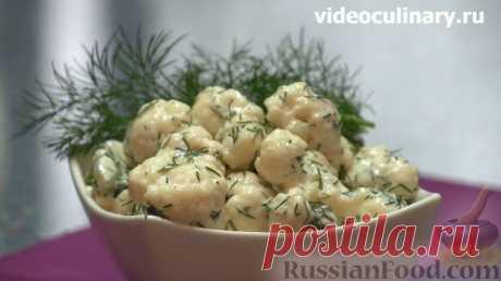 Рецепт: Салат из цветной капусты на RussianFood.com