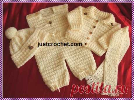 0-3 Month Baby crochet pattern JC22A