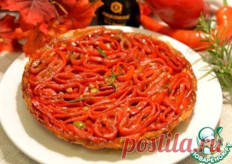 Пирог-перевертыш с красным перцем - кулинарный рецепт