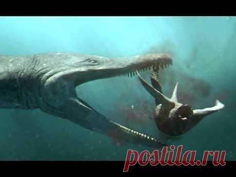 Predator X hunts in deep water - Planet Dinosaur - BBC - YouTube