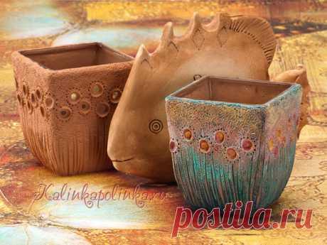 Как сделать имитацию керамики на вазах из стекла   Рукоделие