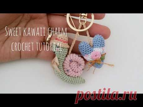 Sweet charms crochet tutorial 🐌💖