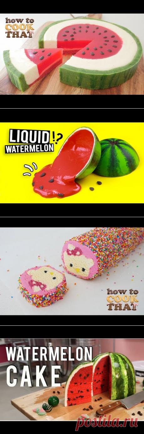 SUMMER WATERMELON DESSERT How To Cook That Ann Reardon Watermelon Week - YouTube