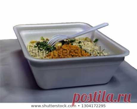 Стоковая фотография «Junk Food Closeup Noodles Fast Cooking» (изменить), 1304172295: Shutterstock