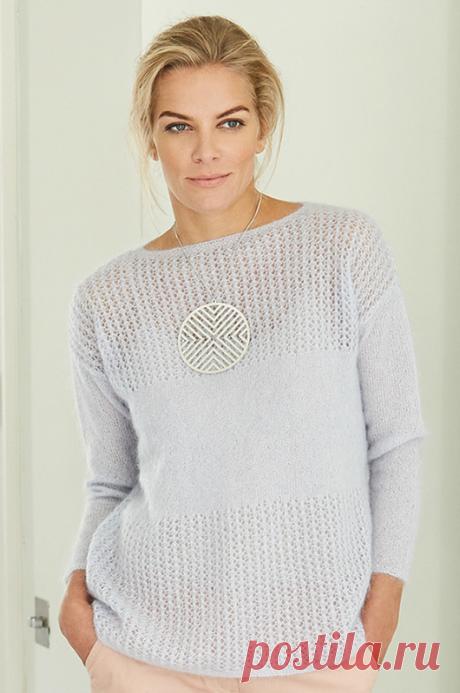 Вязаный спицами пуловер KALI | ДОМОСЕДКА