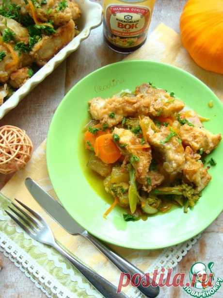 Минтай сочный - кулинарный рецепт