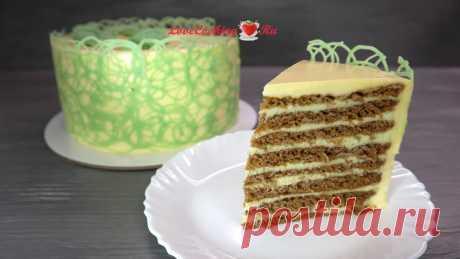 Шоколадный торт с мятным кремом | LoveCookingRu | Яндекс Дзен