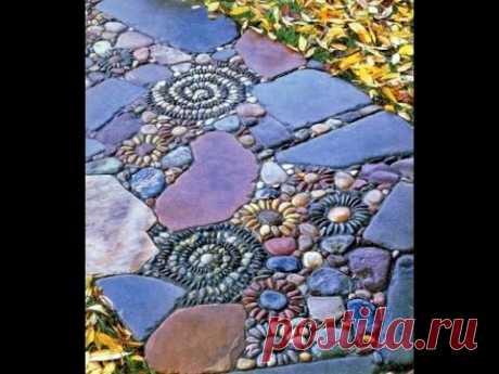 Идеи для вдохновения. Садовая мозаика.