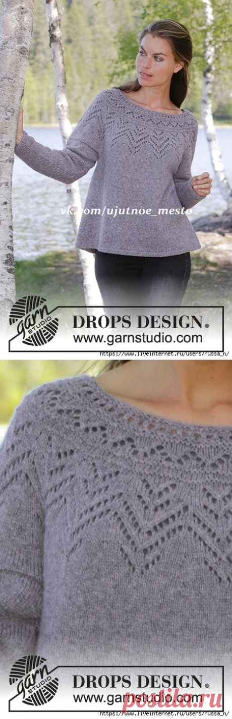 Agnes Sweater by DROPS Design.