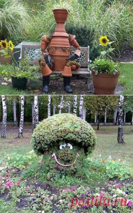 16 неожиданных идей для садового дизайна.