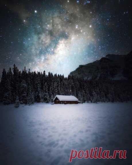Зимний домик..