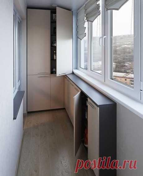 Система хранения на балконе!