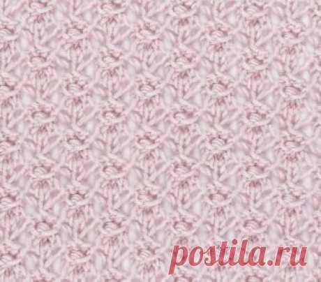 Узор «Фея» - схема вязания спицами. Вяжем Узоры на Verena.ru