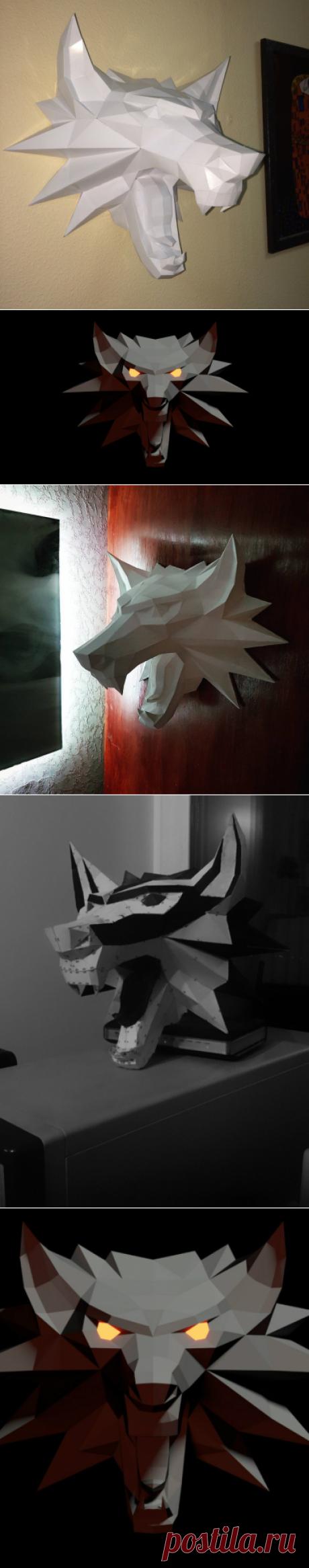 Волк из фильма Ведьмак скачать схему для паперкрафт