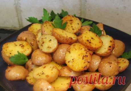 Молодая картошка запечённая в духовке