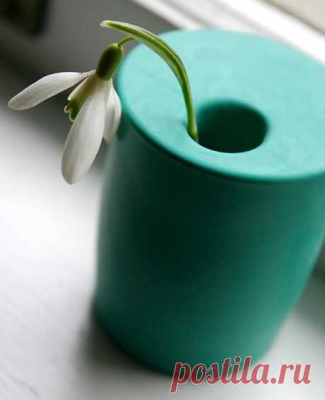 Сделай сам, скачай и распечатай, советы по рукоделию от Трендарио: Дизайнерская ваза за 1 минуту