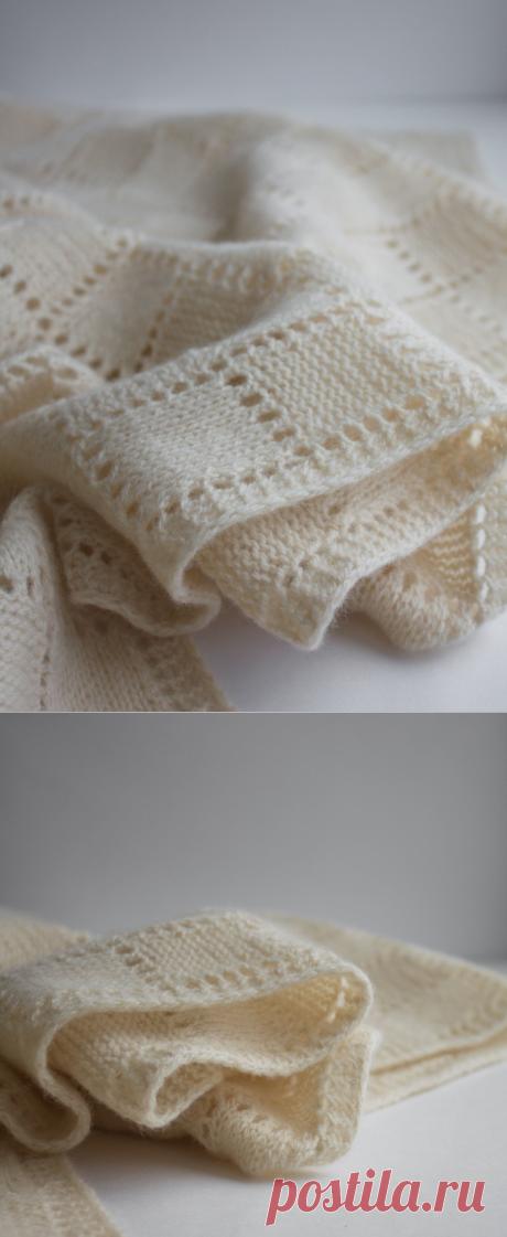 Белый шарф, палантин