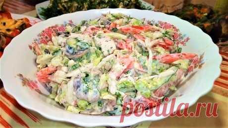Салат из пекинской капусты с грибами и мясом. – пошаговый рецепт с фотографиями