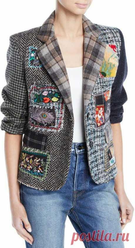 Пиджак с аппликациями Модная одежда и дизайн интерьера своими руками