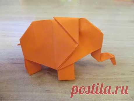 Как сделать СЛОНА из Бумаги БУМАЖНЫЙ СЛОН ОРИГАМИ  How to make Paper Elefant ORIGAMI