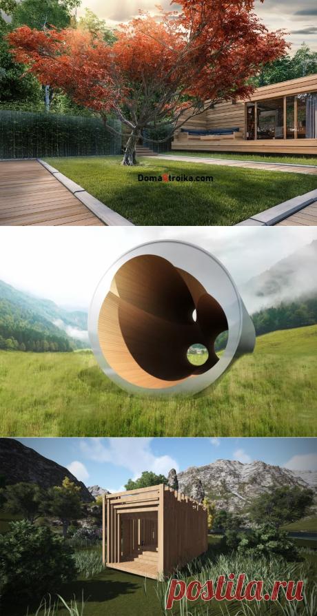 Необычные каркасные домики для отдыха ⋆ DomaStroika.com