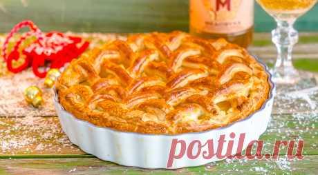 Слоеный пирог с творогом и грушами, пошаговый рецепт с фото