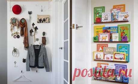 Как использовать пространство за дверью: 9 идей