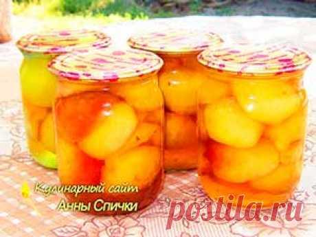 Персики в сиропе - Кулинарный сайт Анны Спички