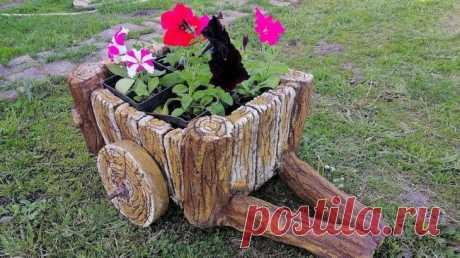 Крутой декор из пластикового ящика Крутой декор из пластикового ящика Многие дачники и садоводы стремятся украсить свои участки не только различными цветами и растениями, но и интересными клумбами для них. А между прочем клумба может б...