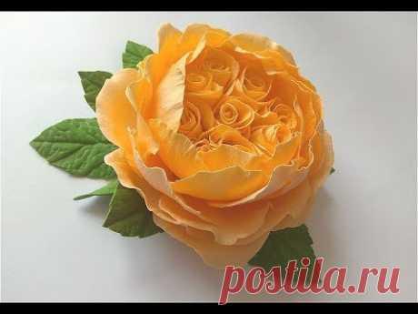 Всем привет! В этом видео я покажу как сделать пионовидную розу с зефирного или шелкового фоамирана. Приятного просмотра... С уважением Алла Шворак Материалы...