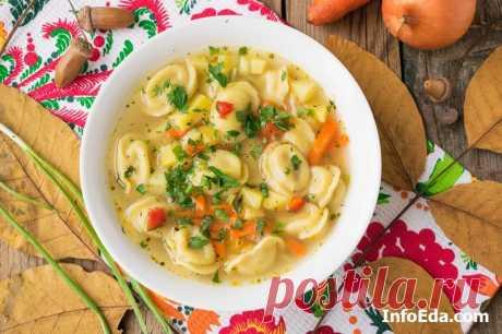 Суп с пельменями: пошаговый рецепт с фото | InfoEda.com