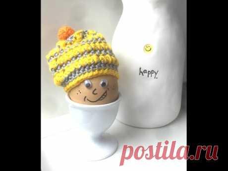 Häkeln: Eierwärmer Mütze Ostern Boshi für Ostereier häkeln How to crochet an egg warmer