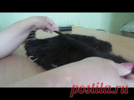 Шапка кошка из меха норки 4 часть