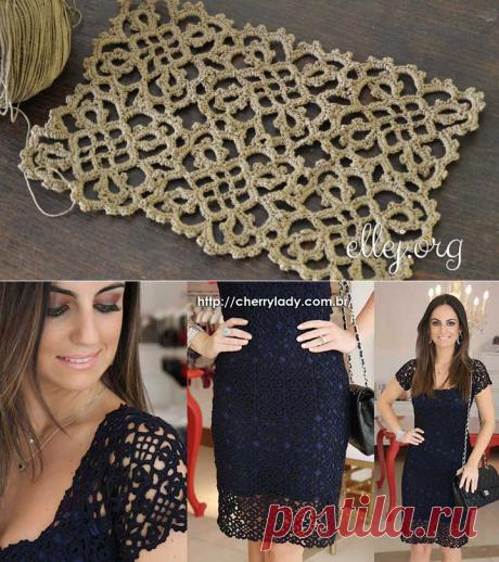 Мотивы для платья Загадочная Бразильянка • Безотрывное вязание | Вязание крючком от Елены Кожухарь
