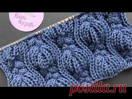 Узор из кос и патентных петель/How to knit a scarf В этом видео вяжем красивый узор из кос и патентных петель. Вяжем по схеме, схему показываю в конце видео. Необходимо набрать число петель кратное 24+13+2 кр...