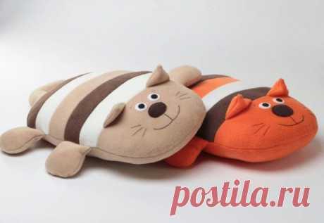 Милые подушечки-котики — Поделки с детьми