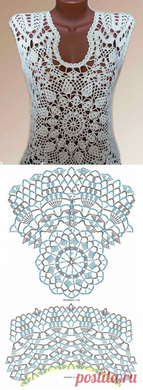 Classical blouse hook ~ hook pattern