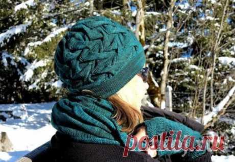 Шапка спицами «Guggeren Hat»