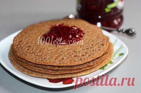 Постные цельнозерновые блины на чае - Блины, блинчики от 1001 ЕДА вкусные рецепты с фото!