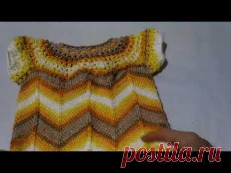 МК Детское платье ЯРКАЯ ОСЕНЬ Вязание спицами на любой размер