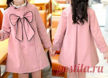 Пальто-плащ для девочки на размеры от 1 года до 14 лет. Выкройка (Шитье и крой) – Журнал Вдохновение Рукодельницы