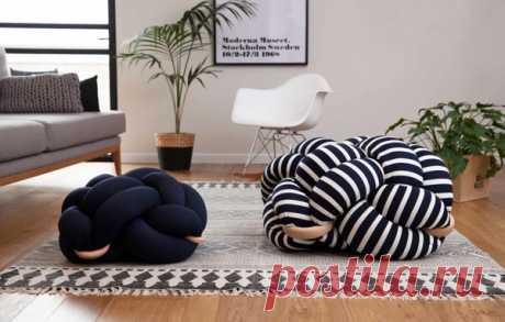 Кресло, завязанное узлом: оригинальная мебель своими руками | Блог elisheva.ru