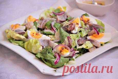 Летний салат для любителей селедки. Вкусный рецепт | Вилка.Ложка. Палочки | Яндекс Дзен