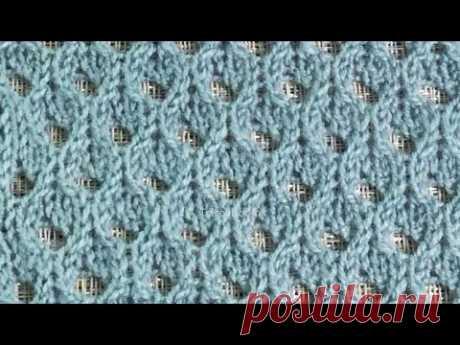 Ажурная сетка / Вязание спицами