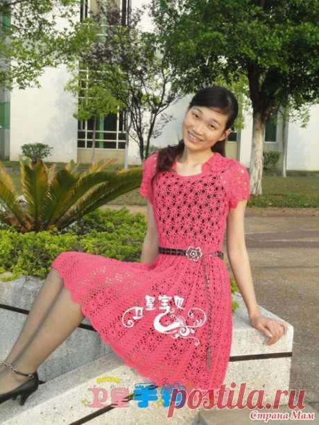 Розовое платье - Свяжем  вместе - Страна Мам